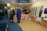 Eyewise Opticians before commercial Interior design and refurbishment by Mewscraft