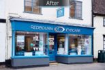 Redbourn Eyecare after commercial Interior design and refurbishment by Mewscraft