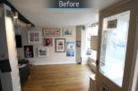Redbourn Eyecare opticians before commercial Interior design and refurbishment by Mewscraft