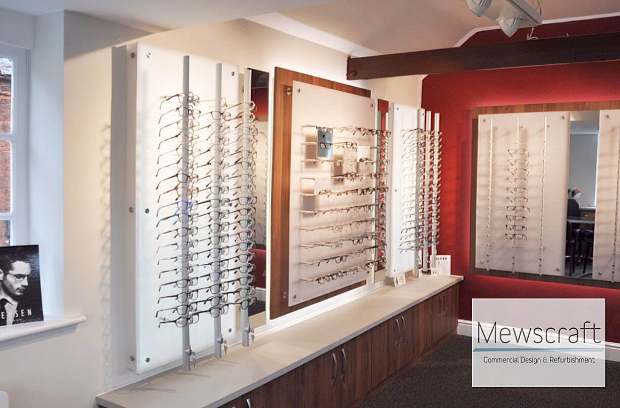 Mewscraft Fits Optical Practice in Listed Building in Norfolk
