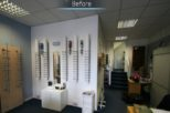 Bellamy Opticians before commercial Interior design and refurbishment by Mewscraft