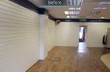 Harrold Opticians before commercial Interior design and refurbishment by Mewscraft