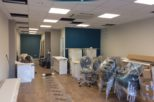 Harrold Opticians during commercial Interior design and refurbishment by Mewscraft