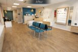 Harrold Opticians after commercial Interior design and refurbishment by Mewscraft