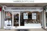 Harrold Opticians window display after commercial Interior design and refurbishment by Mewscraft