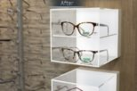 Harrold Opticians LED retail display after commercial Interior design and refurbishment by Mewscraft