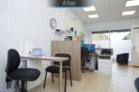 Bellamy Opticians dispensing after commercial Interior design and refurbishment by Mewscraft