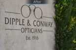 Dipple & Conway Opticians after commercial Interior design and refurbishment by Mewscraft