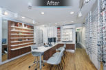 Linklaters Opticians after commercial Interior design and refurbishment by Mewscraft