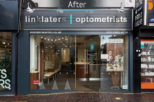 Linklaters Opticians Shop front after commercial Interior design and refurbishment by Mewscraft