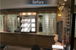 Linklaters Opticians before commercial Interior design and refurbishment by Mewscraft