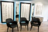 Abingdon Eye Centre Opticians LED retail display after commercial Interior design and refurbishment by Mewscraft