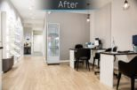 Abingdon Eye Centre Opticians dispensing area after commercial Interior design and refurbishment by Mewscraft