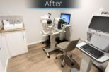 Abingdon Eye Centre Opticians consulting room after commercial Interior design and refurbishment by Mewscraft