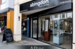 Abingdon Eye Centre Opticians shop front after commercial Interior design and refurbishment by Mewscraft