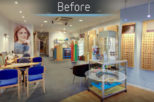 Abingdon Eye Centre Opticians before commercial Interior design and refurbishment by Mewscraft
