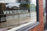 R.N. Roberts Opticians shop front after commercial Interior design and refurbishment by Mewscraft