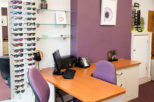 R.N. Roberts Opticians dispensing area after commercial Interior design and refurbishment by Mewscraft