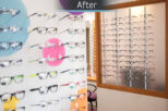 R.N. Roberts Opticians children's display after commercial Interior design and refurbishment by Mewscraft