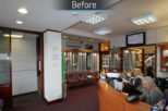 R.N. Roberts Opticians before commercial Interior design and refurbishment by Mewscraft