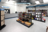 Bespoke retail joinery for Isaac Lord trade counter by Mewscraft