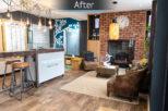 The Optic Shop Opticians rustic interior design refurbishment by Mewscraft
