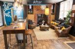 Industrial opticians retail interior design by Mewscraft
