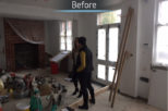 Interior design opticians refurbishment Mewscraft on site