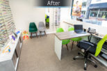 Gwynns Opticians dispensing area after commercial interior refurbishment by Mewscraft