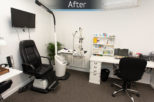 Gwynns Opticians consulting room commercial interior refurbishment by Mewscraft