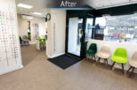 Gwynn's Opticians Interior design and refurbishment by Mewscraft including new shopfront