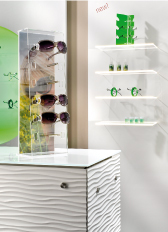Counter Top Displays, Spectacle Stands and Mirrors